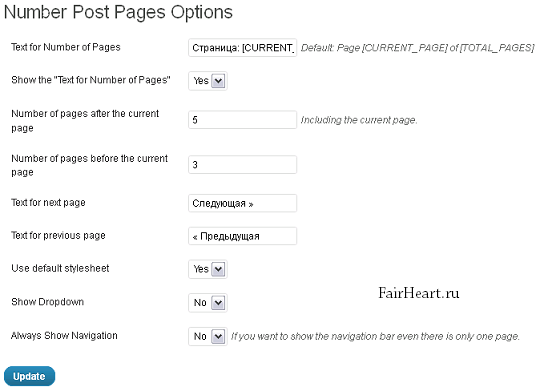 Number-Post-Pages