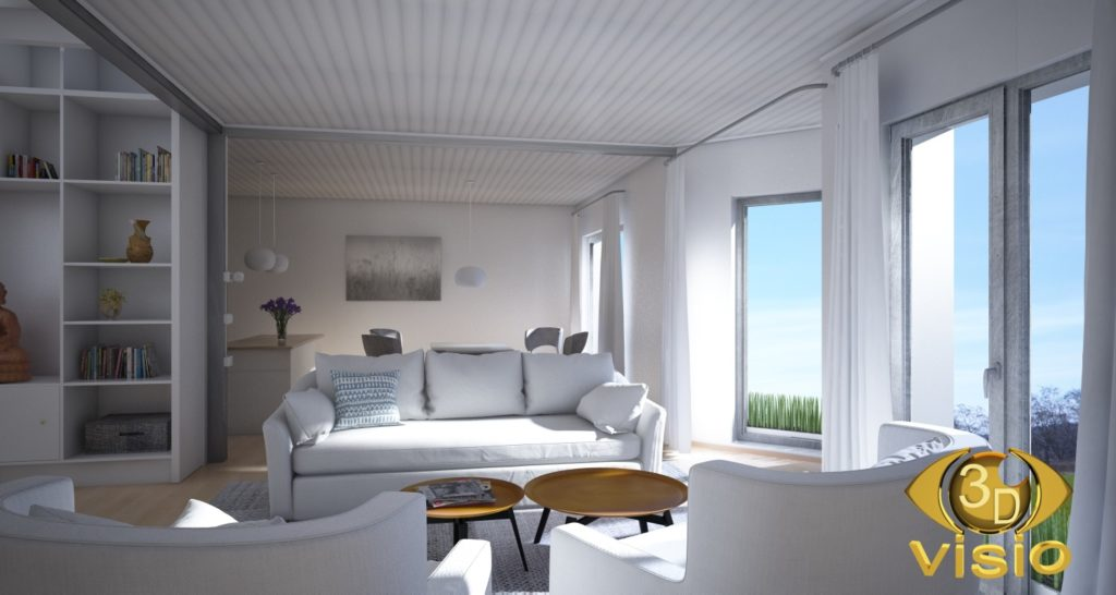 Визуализация интерьера дома