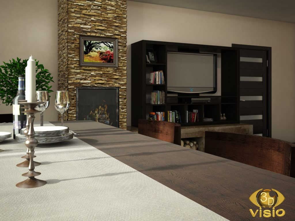 Визуализация гостинной