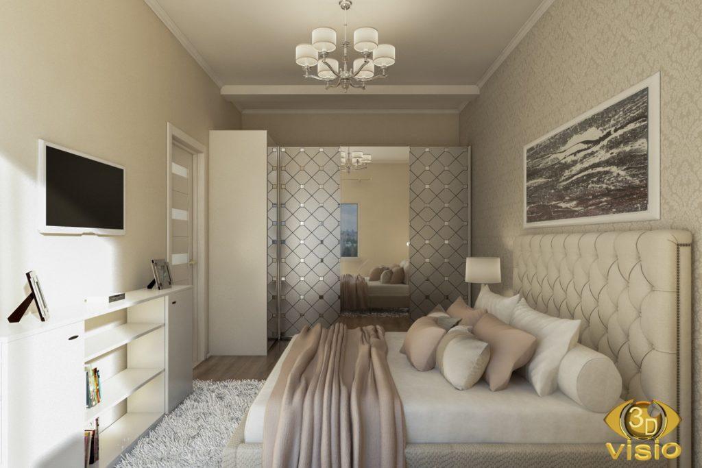 3D визуализация спальной