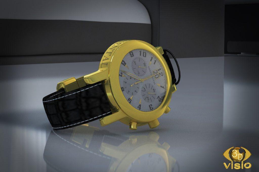 Предметная визуализация швейцарских часов Continental