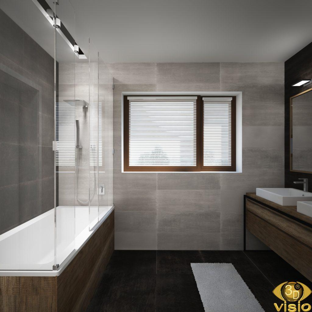 Визуализация ванной в доме, Австрия