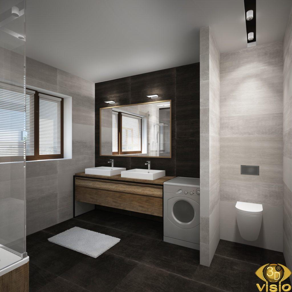 3D-визуализация ванной в доме, Австрия