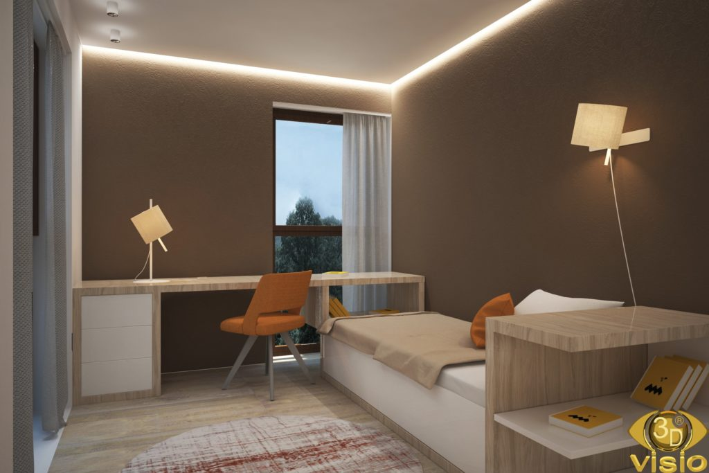 3D visualization of a room in an Austrian house