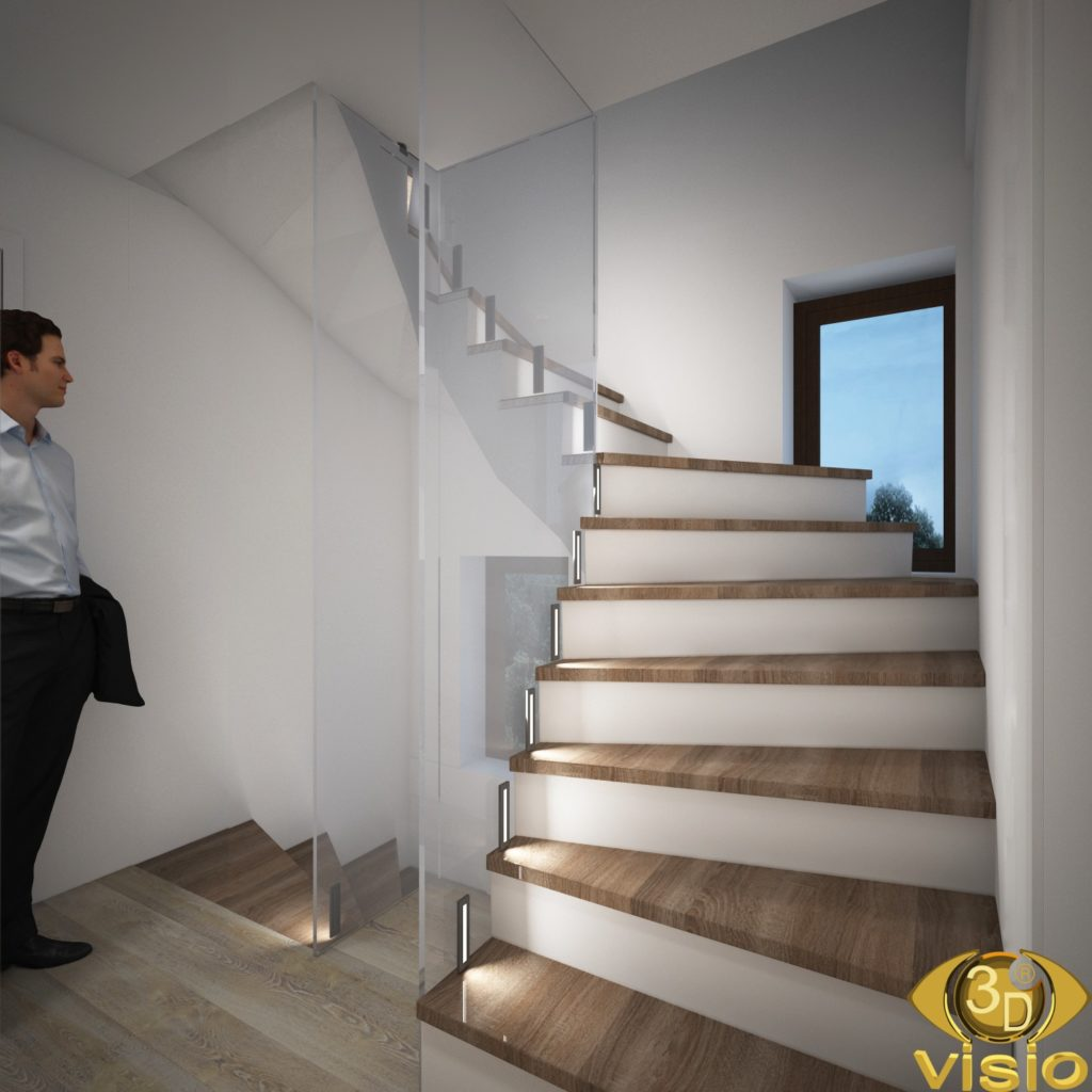 3D visualization of the corridor in the house of Austria