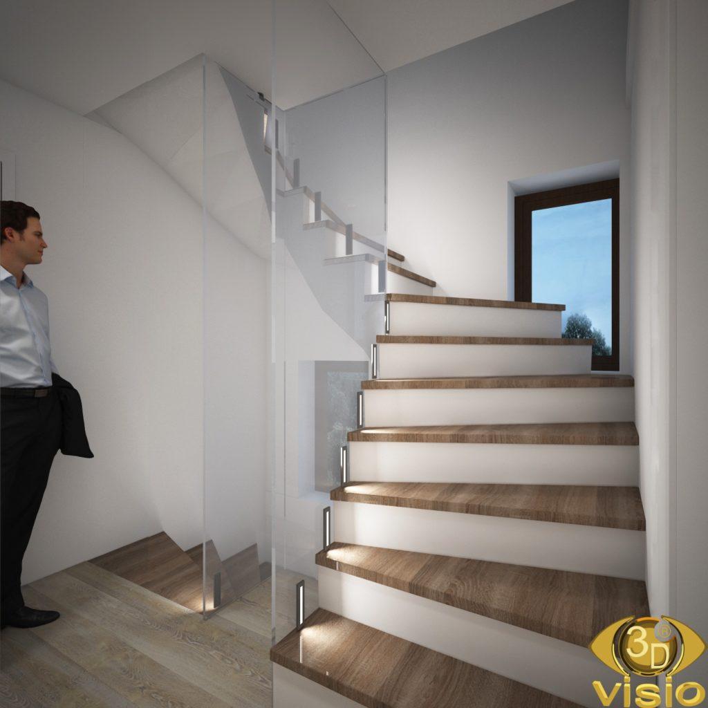 3D-визуализация коридора в доме Австрии