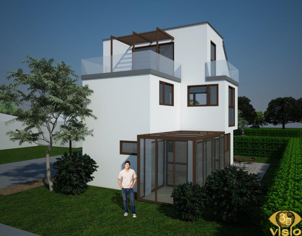 3D-визуализация дома в Австрии