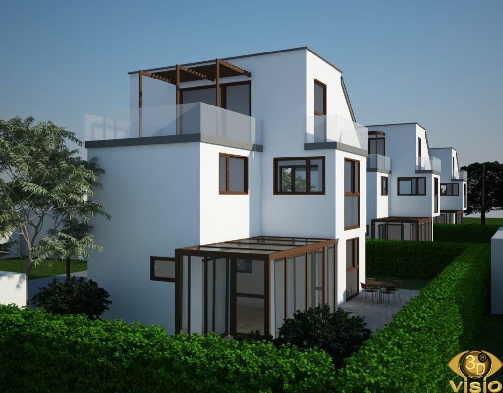 Визуализация нескольких домов в Австрии
