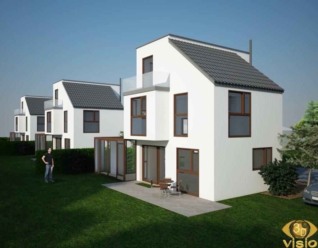 Визуализация нескольких домов, Австрия