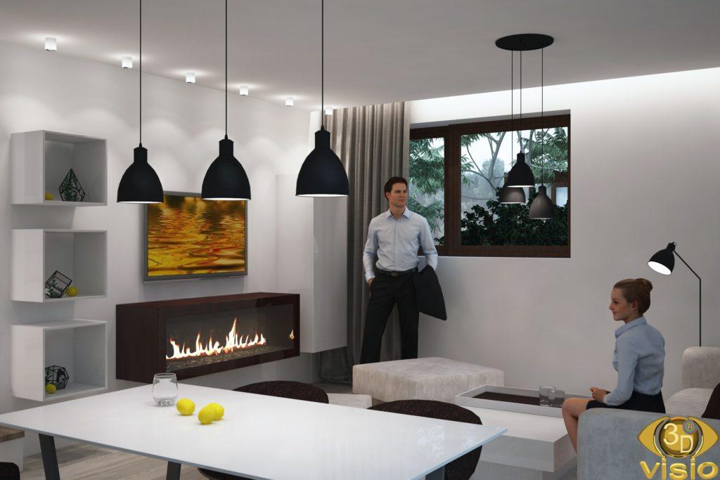 3D визуализация интерьера в доме Австрии