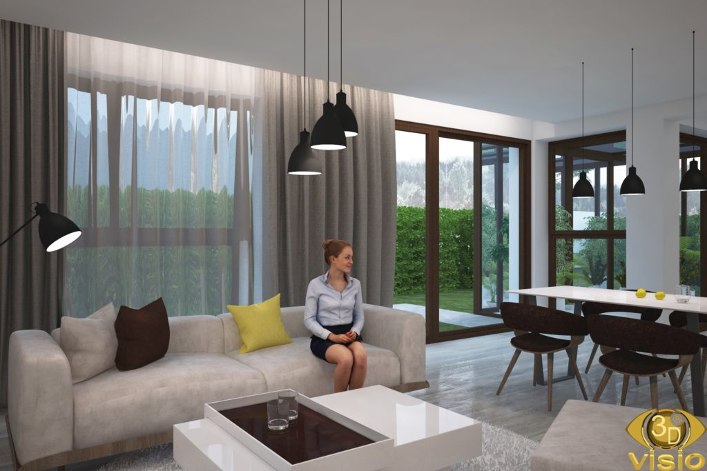 3D Visualization of the interior in the house, Austria