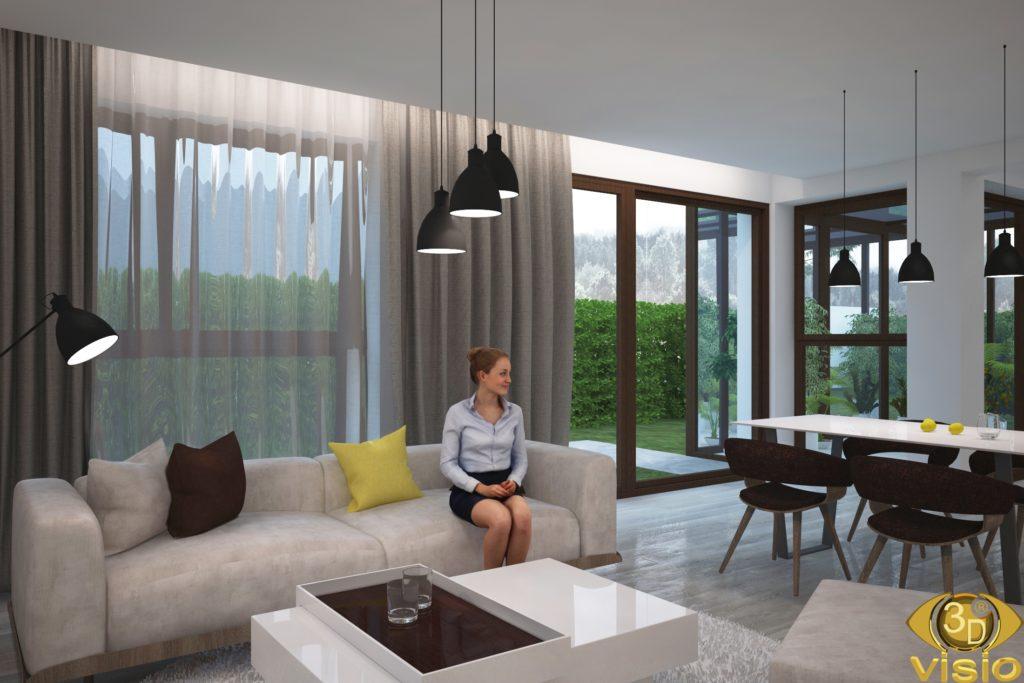 3D-Визуализация интерьера в доме, Австрия