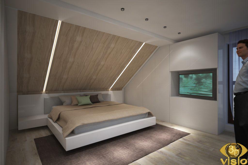 3D-визуализация последнего этажа в доме в Австрии