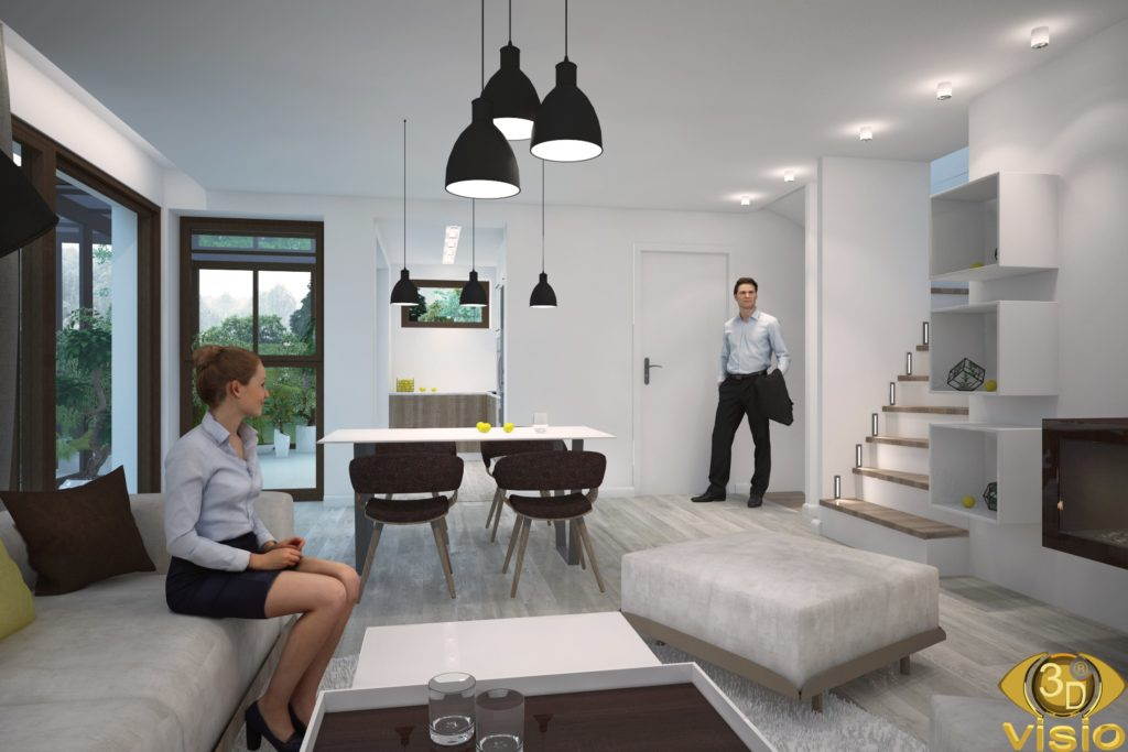Visualization of the interior in the house, Austria