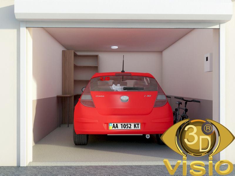3D-визуализация гаража с погребом