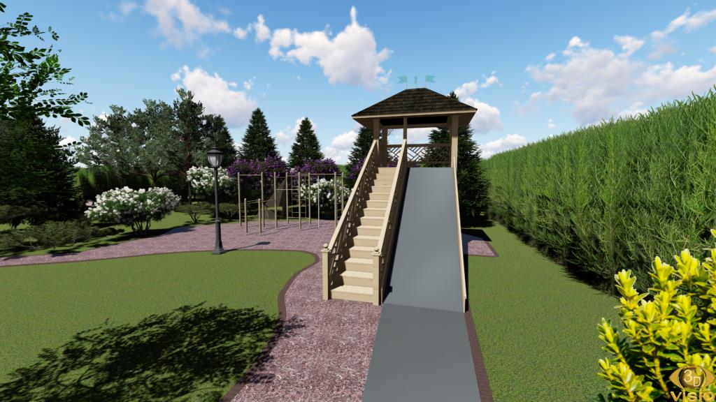 3D-визуализация экстерьера. Парк Миллениум