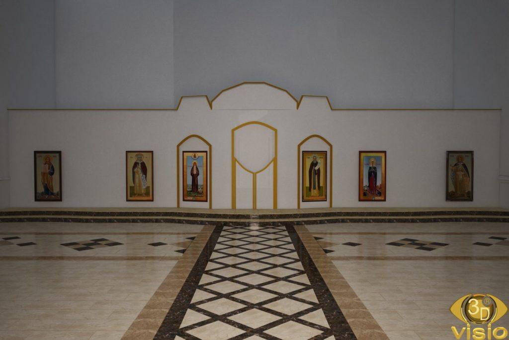 3D визуализация церкви 3