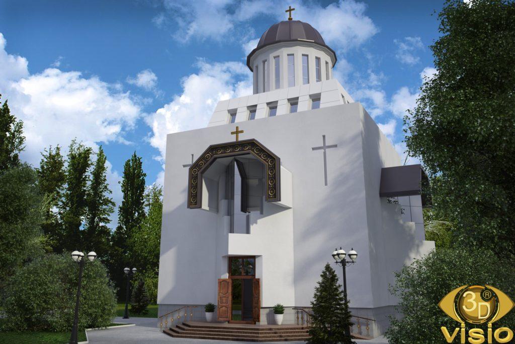 3D Визуализация Свято-Николаевского храма на Татарке в Киеве, от студии визуализации 3DVISIO (3)