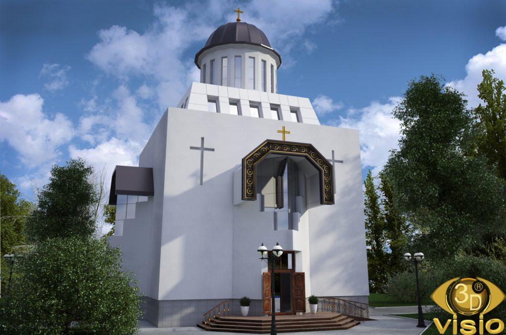 3D Визуализация Свято-Николаевского храма на Татарке в Киеве, от студии визуализации 3DVISIO (1)