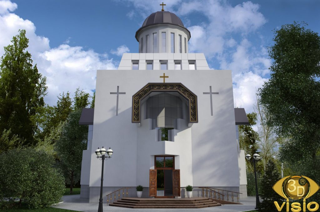 3D Визуализация Свято-Николаевского храма на Татарке в Киеве, от студии визуализации 3DVISIO (2)