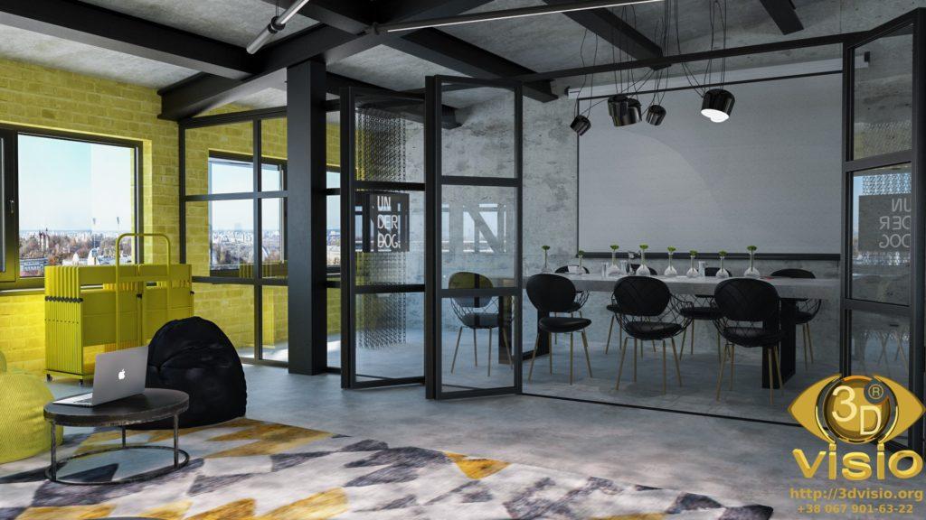 3D визуализация офиса. 3