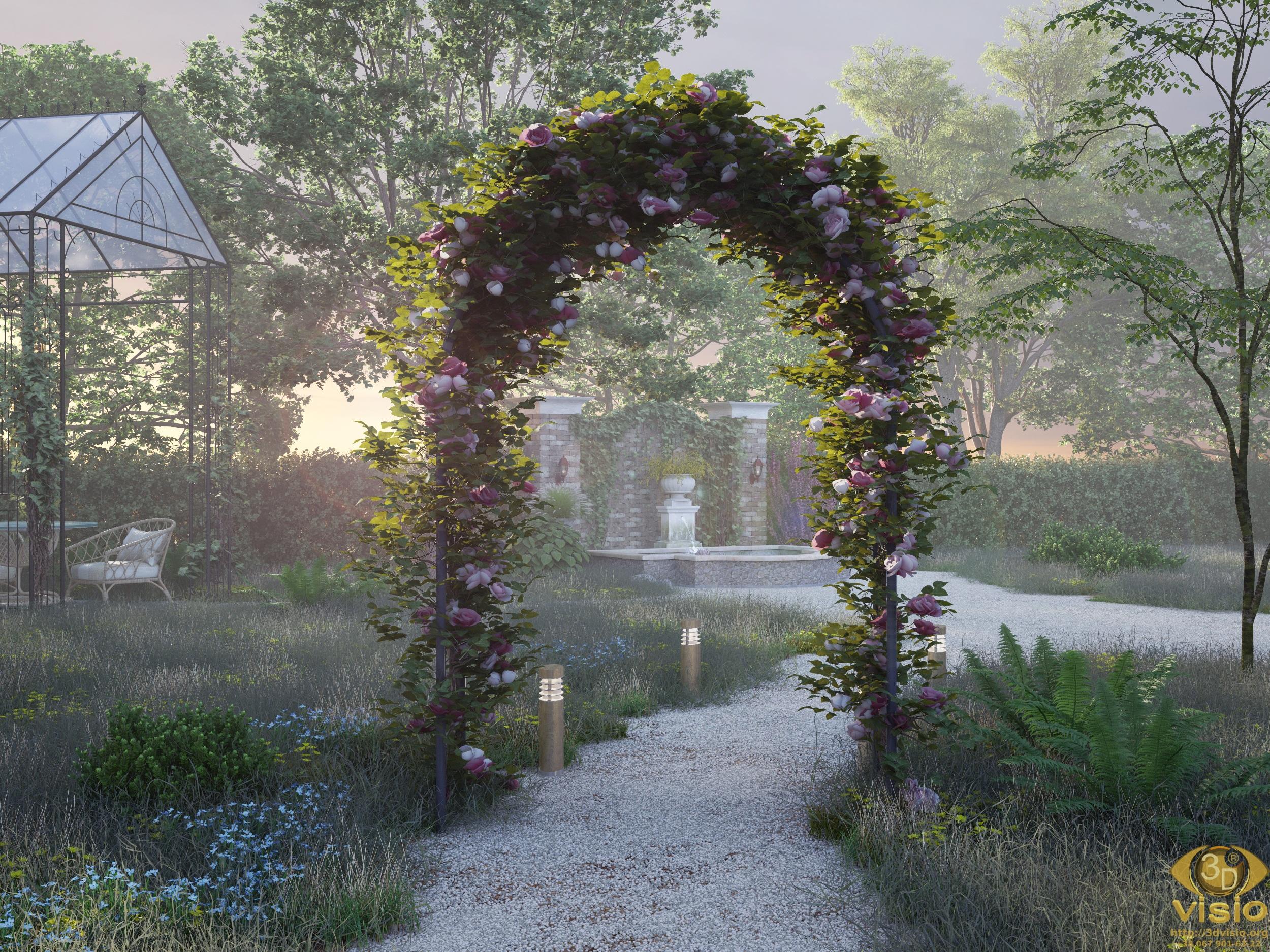 """3D Визуализация """"Утро в саду"""""""