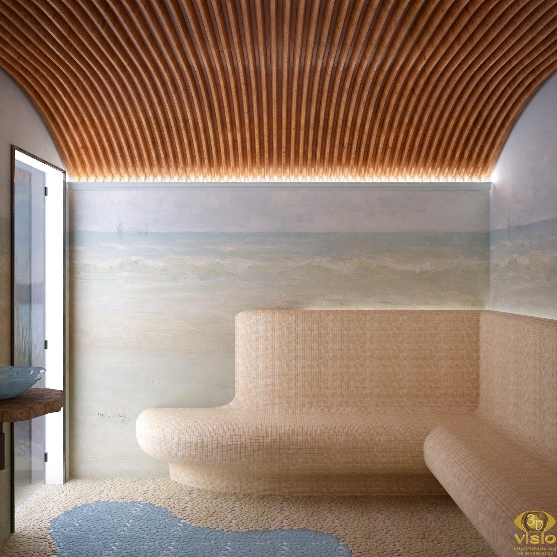Визуализация банного комплекса (в загородном доме)